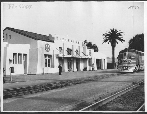 Atchison, Topeka & Santa Fe Railway Company depot, Riverside, California - Page