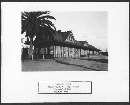 Atchison Topeka & Santa Fe Railway Company depot, Anaheim, California - Page