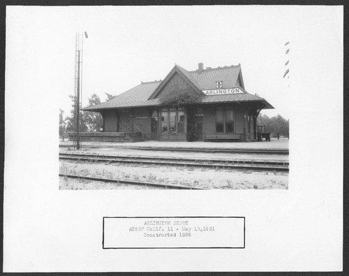 Atchison, Topeka & Santa Fe Railway Company depot, Arlington, California - Page