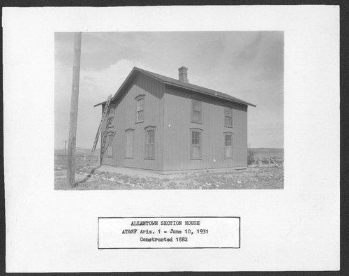 Atchison, Topeka & Santa Fe Railway Company section house, Allentown, Arizona - Page