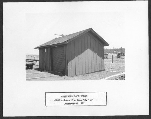 Atchison, Topeka & Santa Fe Railway Company tool house, Chalender, Arizona - Page