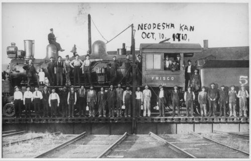 St Louis-San Francisco locomotive, Neodesha, Kansas - Page