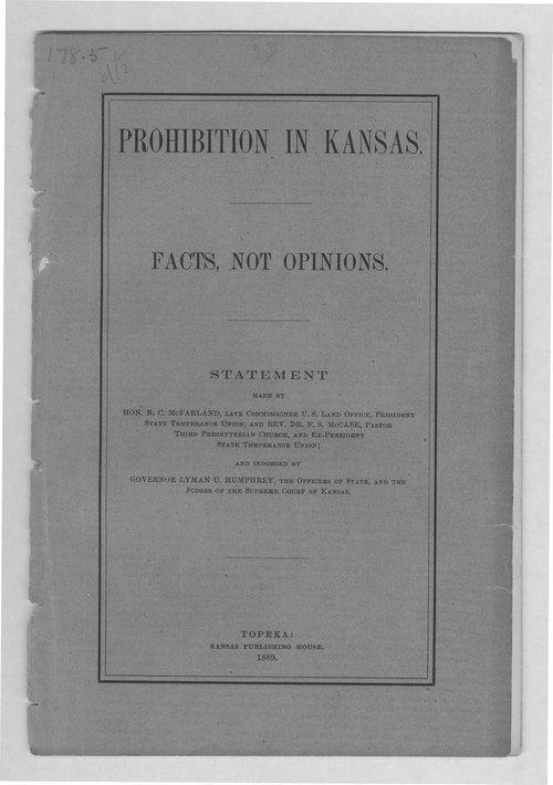 Prohibition in Kansas. Facts not opinions. - Page