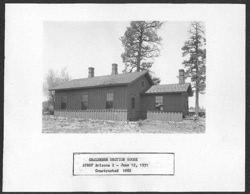 Atchison, Topeka & Santa Fe Railway Company section house, Chalender, Arizona - Page