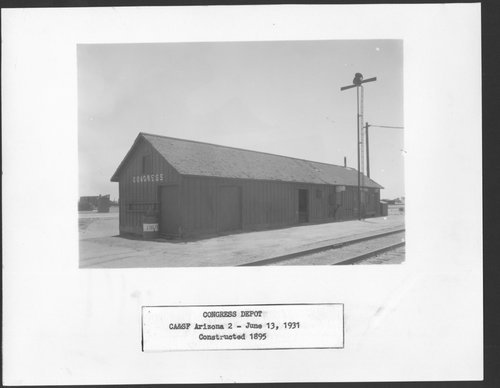 Atchison,Topeka & Santa Fe Railway Company depot, Congress, Arizona - Page