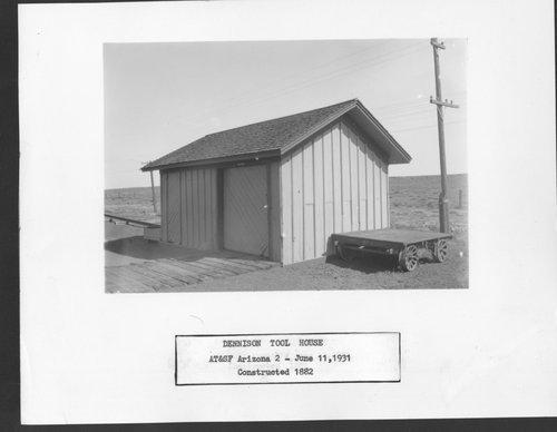Atchison, Topeka & Santa Fe Railway Company tool house, Dennison, Arizona - Page