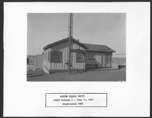 Atchison, Topeka and Santa Fe Railway Company depot, Canyon Diablo, Arizona - Page