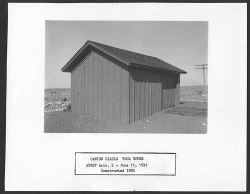 Atchison, Topeka & Santa Fe Railway Company tool house, Canyon Diablo, Arizona - Page