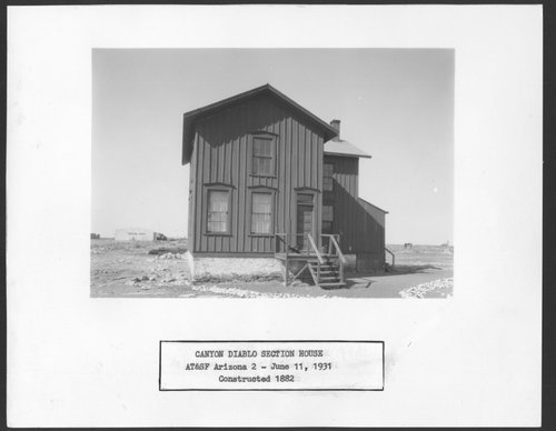 Atchison, Topeka & Santa Fe Railway Company section house, Canyon Diablo, Arizona - Page