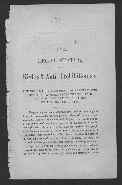 Legal status or rights of the anti-prohibitionists - Page