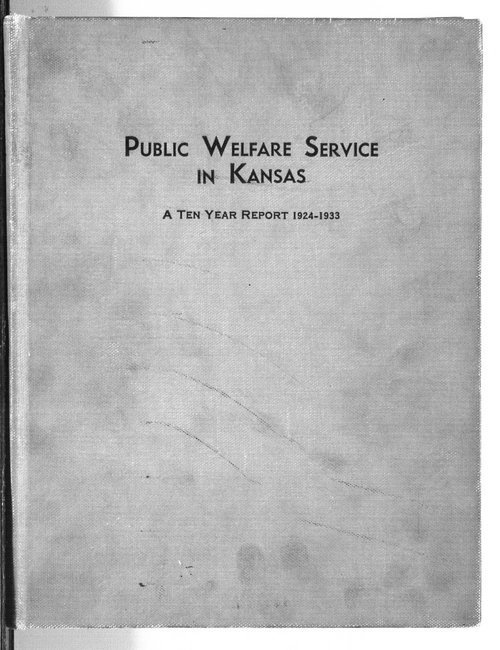 Public Welfare Service in Kansas - Page