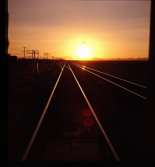 Atchison, Topeka & Santa Fe sunset over the rails - Page
