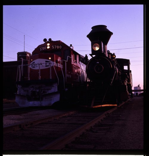 Atchison, Topeka & Santa Fe Railway Company's  Bicentennial Unit 5700 and the Cyrus K. Holliday, Topeka, Kansas - Page