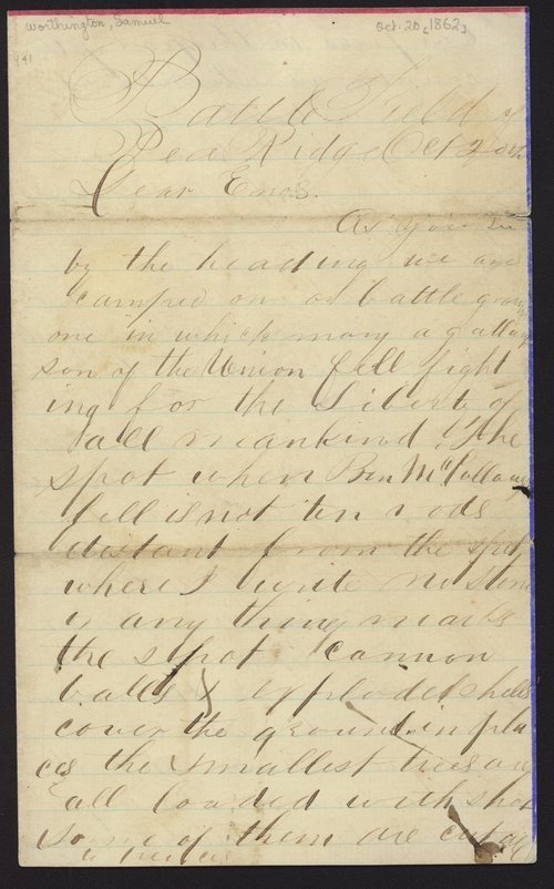 Samuel Worthington to Enos - Page