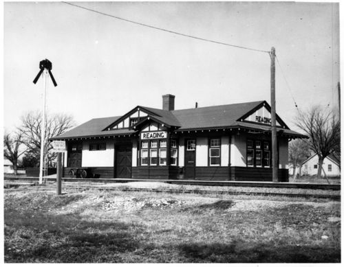 Atchison, Topeka and Santa Fe Railway Company depot, Reading, Kansas - Page