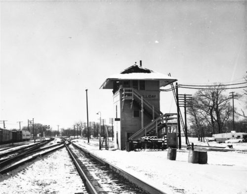 Atchison, Topeka and Santa Fe Railway tower, Holliday, Kansas - Page
