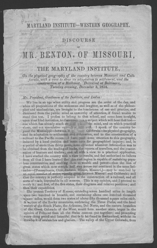 Discourse of Mr. Benton, of Missouri: before the Maryland Institute - Page