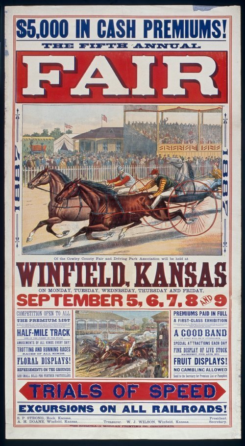 The fifth annual fair, Winfield, Kansas - Page
