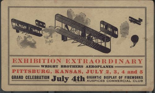 Wright Brothers Exhibition, Pittsburg, Kansas - Page