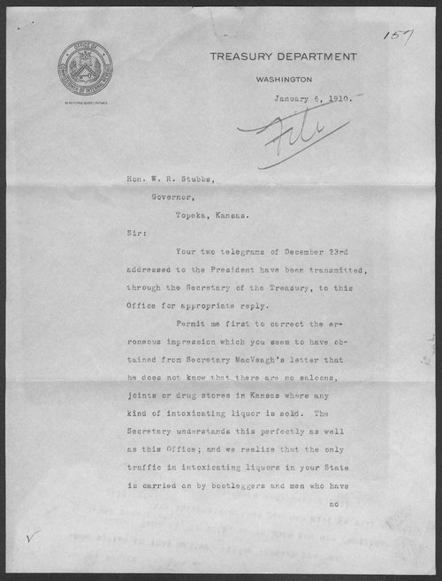 R. L. Cabell to Governor Walter Stubbs - Page