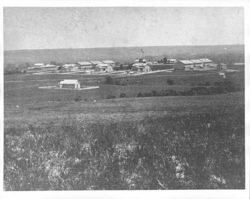 View of Fort Riley from Ogden monument, 1874