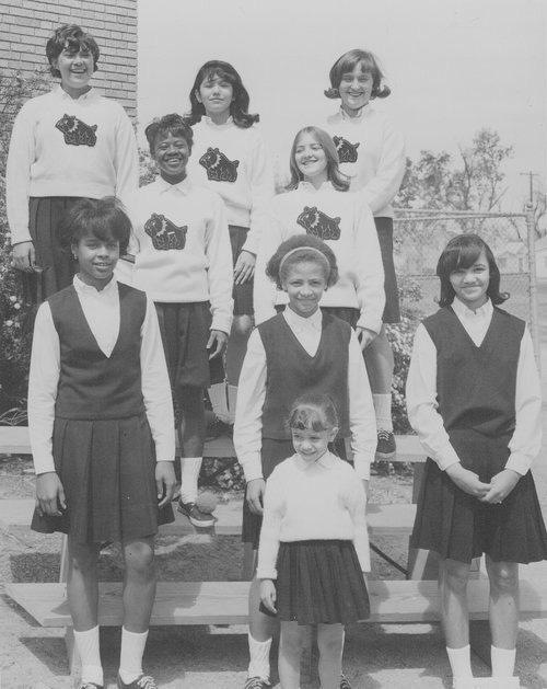 East Topeka Jr. High Cheerleaders, 1966-67. - Page