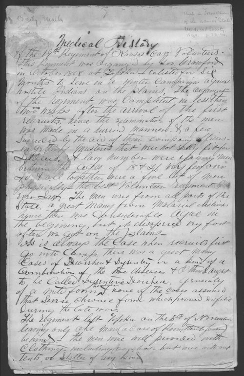Medical history of the 19th Regiment, Kansas Cavalry Volunteers - Page