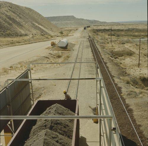 Atchison, Topeka & Santa Fe uranium train at Blue Water, New Mexico - Page