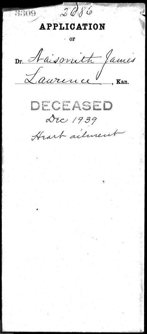 James Naismith's medical license application - Page