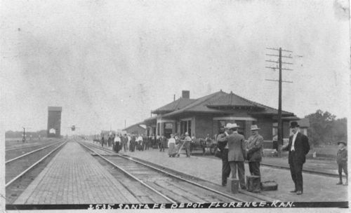 Atchison, Topeka, and Santa Fe Railway Company depot, Florence, Kansas - Page