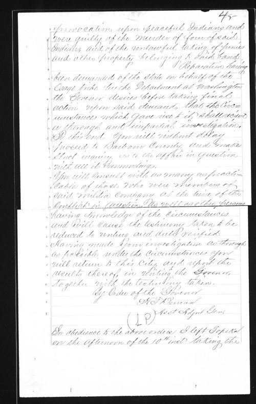 Captain Lewis Hanback's final report - Page
