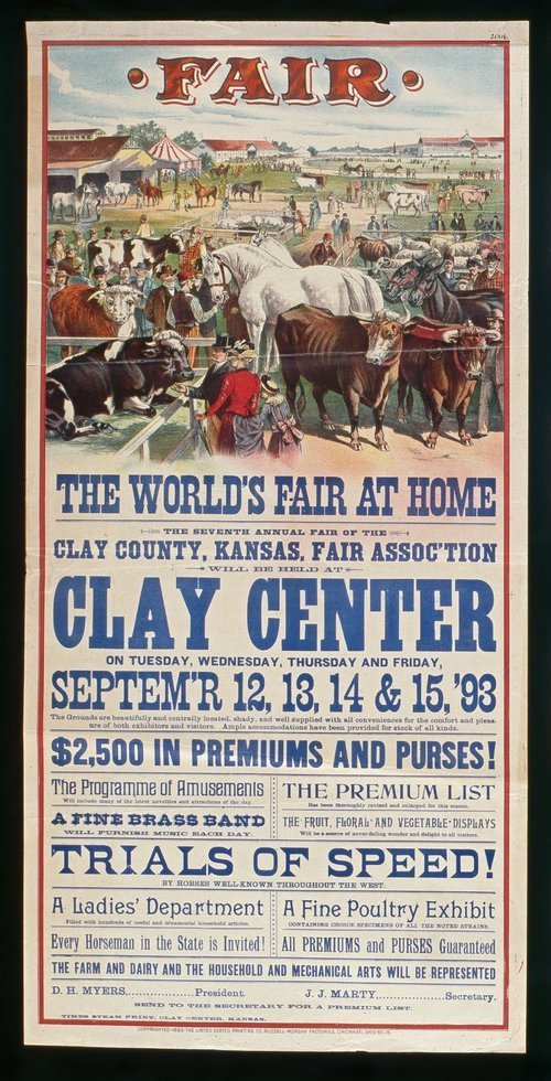 The seventh annual fair of the Clay county, Kansas, Fair Association - Page