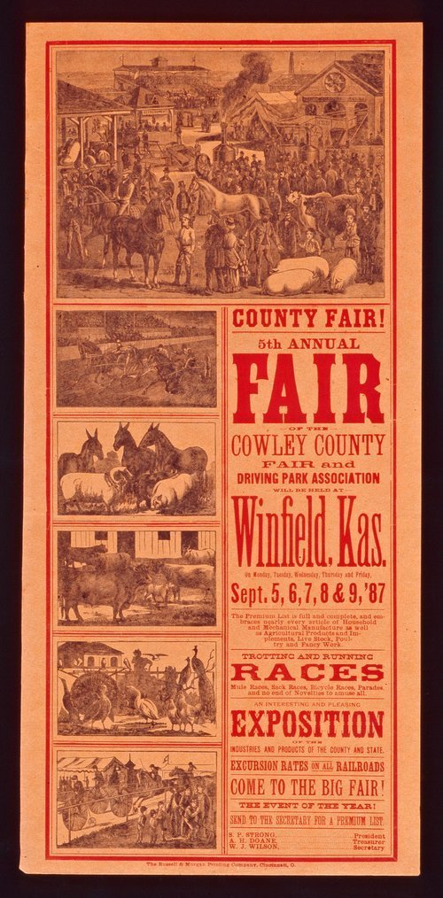 Fifth annual fair of the Cowley County Fair and Driving Park Association - Page