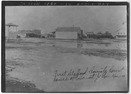 Street scene of St. John, Kansas - Page
