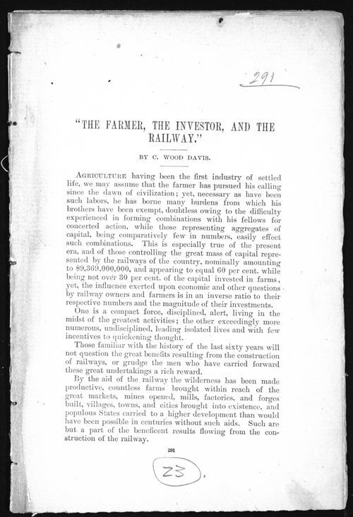 The farmer, the investor, and the railway - Page