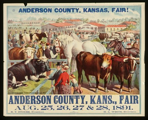 Image of poster announcing the Anderson County Fair, 1891.