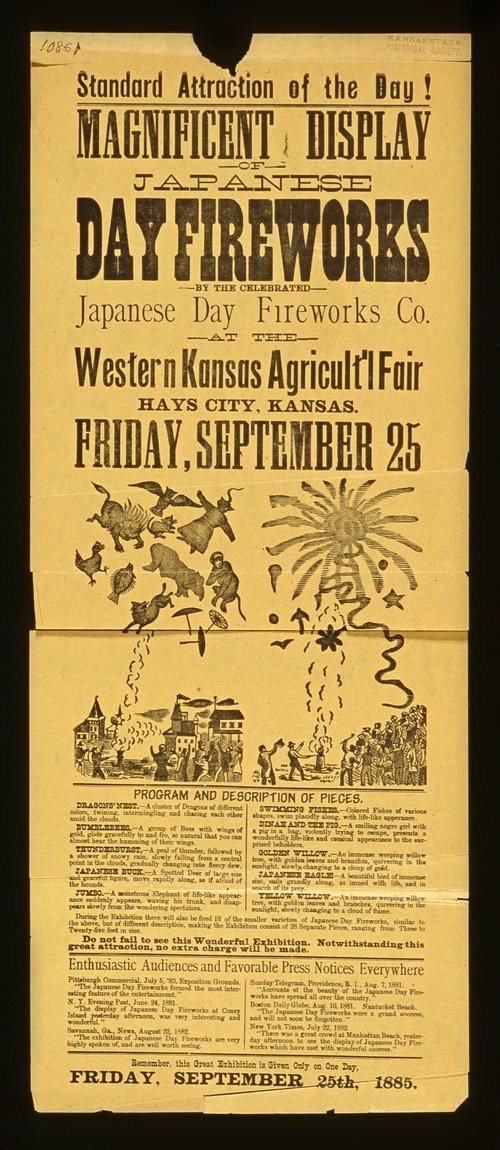 Japanese day fireworks at the Western Kansas Agricultural fair - Page