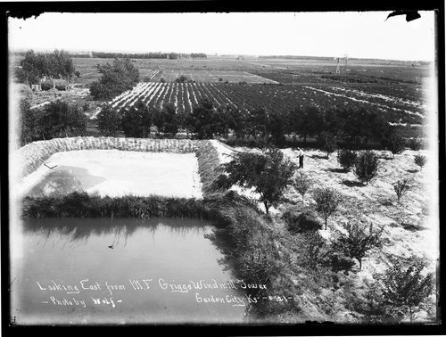 Looking east from M. F. Griggs' windmill tower, Garden City, Finney County, Kansas - Page