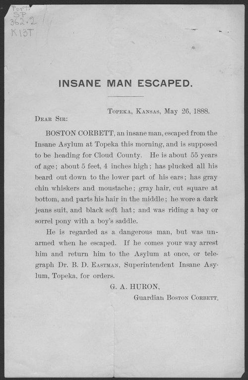 Insane man escaped - Page