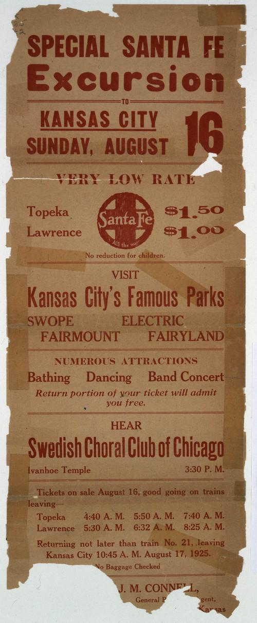Special Santa Fe excursion to Kansas City - Page