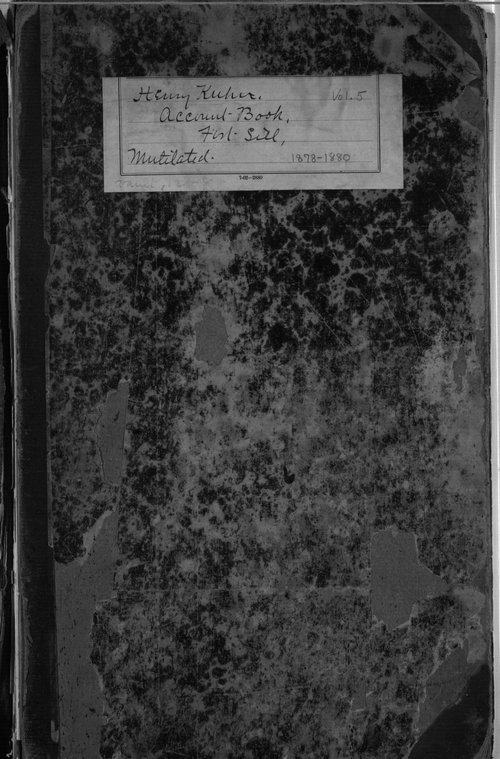 Henry Kuhn collection, account books - Page