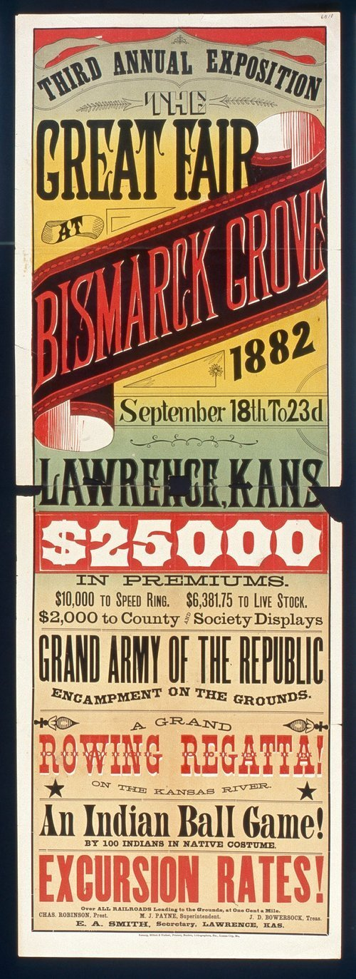 Third annual exposition. The great fair at Bismarck Grove, Lawrence, Kansas - Page