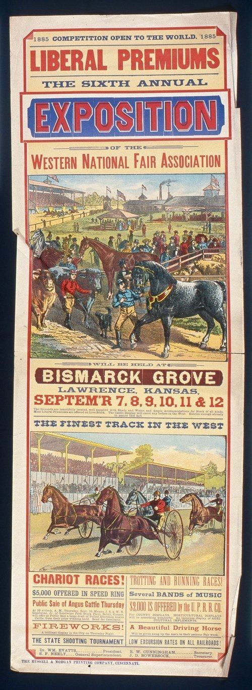The sixth annual exposition of the Western National Fair Association, Bismarck Grove, Lawrence, Kansas - Page