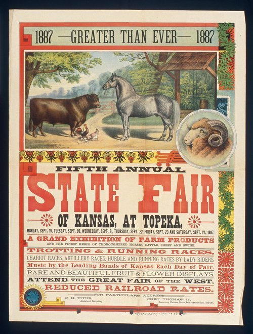 Fifth annual state fair of Kansas, Topeka - Page