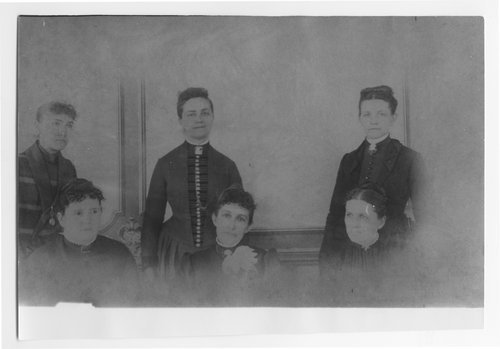 Photograph of the first all woman city government in Kansas, Oskaloosa, Kansas, 1888.
