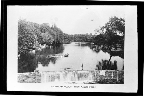 Up the Vermillion, view from Wagon Bridge, Kansas - Page
