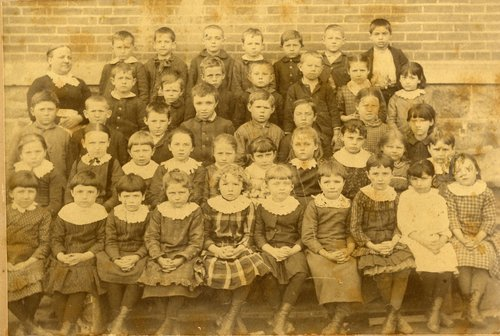 First grade class, Quincy School, Topeka, Kansas - Page