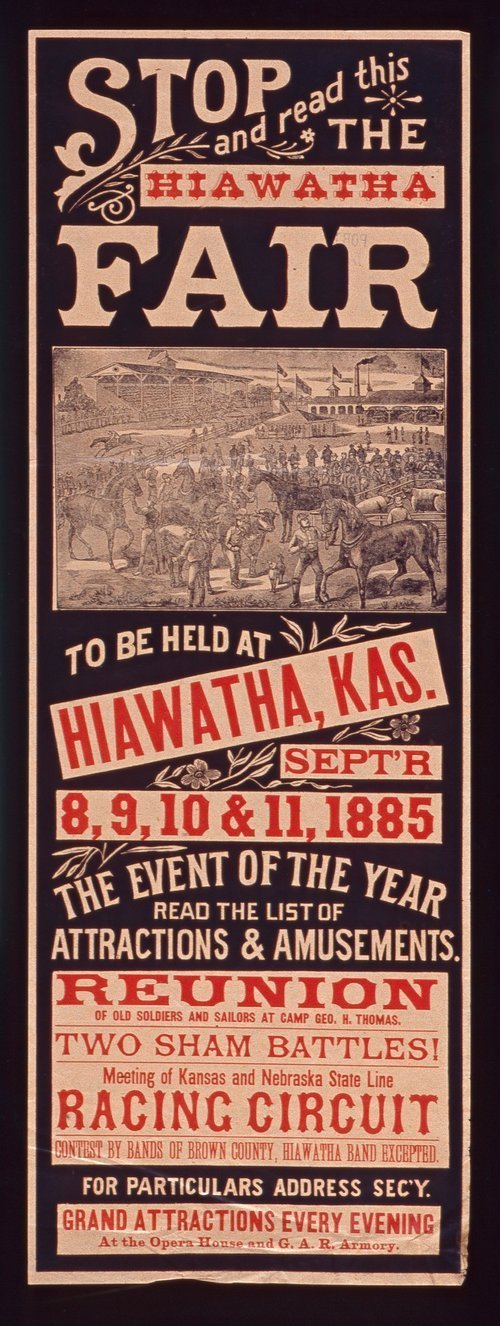 The Hiawatha fair to be held at Hiawatha, Kansas - Page