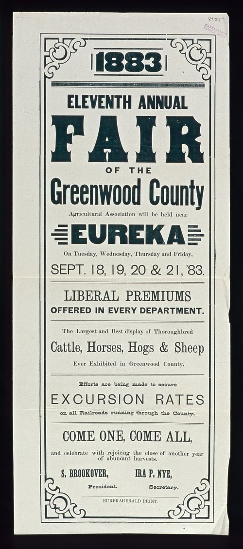 Eleventh annual fair of the Greenwood County Agricultural Association, Eureka, Kansas - Page