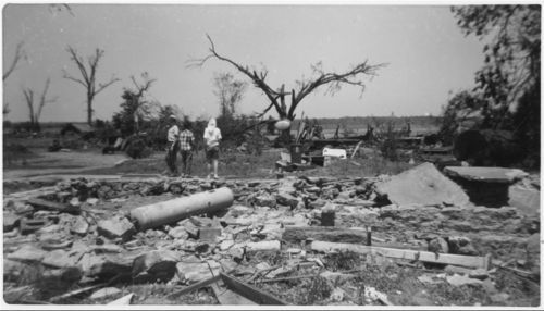 Tornado damage to the Vital DeDondere residence, Pottawatomie County, Kansas - Page